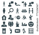 set of 25 people filled icons... | Shutterstock .eps vector #771106567
