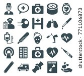 set of 25 medicine filled icons ... | Shutterstock .eps vector #771106873