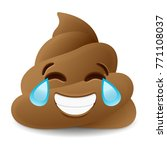 pile of poo laughing emoji icon ... | Shutterstock .eps vector #771108037