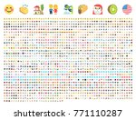 all type of emojis  emoticons... | Shutterstock .eps vector #771110287
