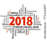 word cloud with new year 2018... | Shutterstock .eps vector #771114397