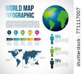 world map infographic chart... | Shutterstock .eps vector #771117007