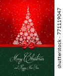 merry christmas and happy new... | Shutterstock .eps vector #771119047