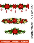 vector christmas fir decoration ... | Shutterstock .eps vector #771124627