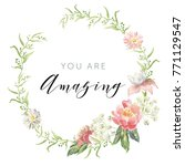 romantic wreath with quote you... | Shutterstock .eps vector #771129547