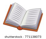 cartoon image of book icon.... | Shutterstock . vector #771138073