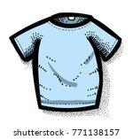 cartoon image of shirt icon. t...