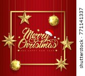 merry christmas and happy new... | Shutterstock .eps vector #771141337