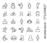 set of 25 simple lines people... | Shutterstock .eps vector #771143827