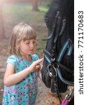 cute little caucasian girl...   Shutterstock . vector #771170683