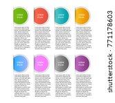 infographics template for... | Shutterstock .eps vector #771178603