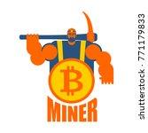 miner logo. mining bitcoin... | Shutterstock .eps vector #771179833
