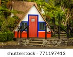 a traditional madeira dwelling... | Shutterstock . vector #771197413