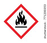 hazard warning sign flammable... | Shutterstock .eps vector #771200353