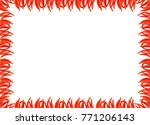 chili frame of red pepper small ... | Shutterstock . vector #771206143