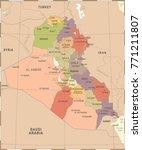 iraq map   vintage high... | Shutterstock .eps vector #771211807