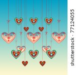hearts in the sky | Shutterstock .eps vector #77124055