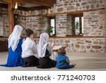 a muslim family in a mosque | Shutterstock . vector #771240703