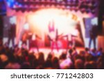 blurry night club dj party... | Shutterstock . vector #771242803