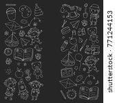kindergarten nursery preschool... | Shutterstock .eps vector #771244153