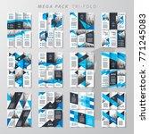 mega pack tri fold design... | Shutterstock .eps vector #771245083