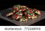 christmas cookies on wax paper | Shutterstock . vector #771268543