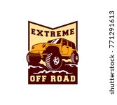 colored  off road car 4x4... | Shutterstock .eps vector #771291613
