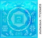 vector set of vintage elements... | Shutterstock .eps vector #771306853