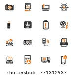 electron icons set for web... | Shutterstock .eps vector #771312937
