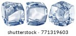 macro picture of three ice... | Shutterstock . vector #771319603