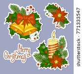 set of stickers colorful... | Shutterstock .eps vector #771333547
