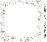 square christmas border or... | Shutterstock .eps vector #771358507