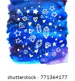 crystals  stars  flowers and... | Shutterstock .eps vector #771364177