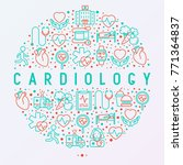 cardiology concept in circle... | Shutterstock .eps vector #771364837