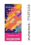 music  dance  live concert... | Shutterstock .eps vector #771371113