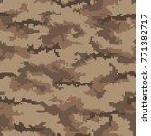 digital camouflage pattern ... | Shutterstock .eps vector #771382717