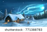romantic digital painting of...   Shutterstock . vector #771388783