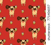 vector background with funny... | Shutterstock .eps vector #771406057