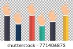human hands showing direction... | Shutterstock .eps vector #771406873