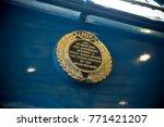 Plaque On A4 Steam Locomotive...