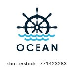 ship and boat helm steering... | Shutterstock .eps vector #771423283