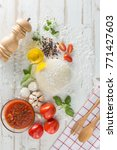 food ingredients and spices for ... | Shutterstock . vector #771427603