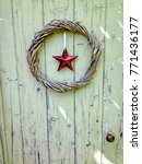 simple twisted woody wreath... | Shutterstock . vector #771436177