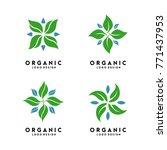organic logo design vector   Shutterstock .eps vector #771437953