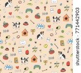 pet shop animals dogs cute... | Shutterstock . vector #771442903