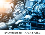 is on the production line... | Shutterstock . vector #771457363