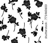 rose flower pattern  | Shutterstock .eps vector #771460603