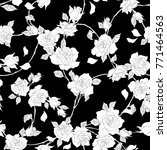 rose illustration pattern. | Shutterstock .eps vector #771464563