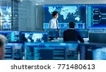 in the system control room... | Shutterstock . vector #771480613