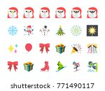 merry christmas  santa claus ... | Shutterstock .eps vector #771490117